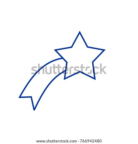Outline christmas star icon isolated on stock vector 766942480 outline christmas star icon isolated on grey background line xmas symbol editable stroke sciox Images