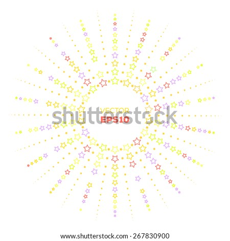 Outline Colorful Starburst Frame Template Your Stock Vector ...