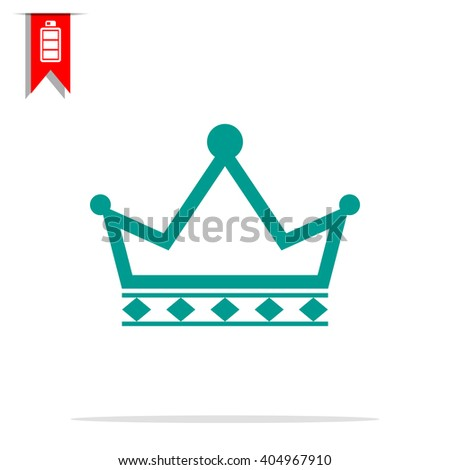 outline crown icon - stock vector