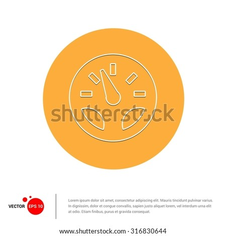 Outline Dashboard icon, Vector Illustration, Flat pictogram icon - stock vector