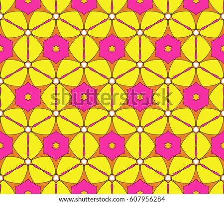outline floral on sacred geometry pattern on color background. vector illustration. for design invitation, wallpaper, fabric