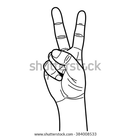 outline hand drawing