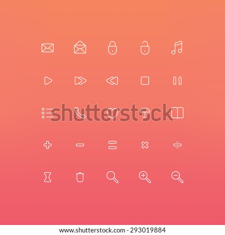 Outline Icons Set, Vector EPS 10