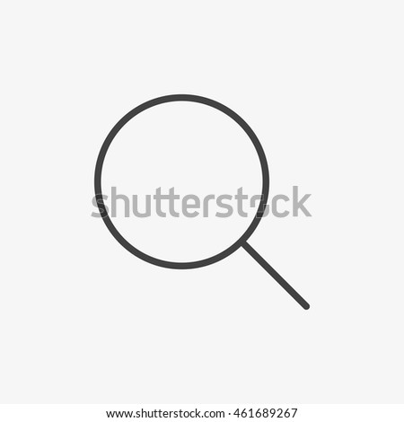 Outline magnifying glass icon isolated on white background. Line search symbol for website design, mobile application, ui. Vector illustration, eps10.