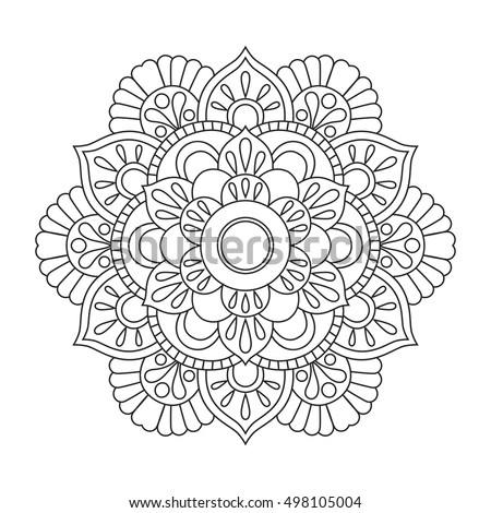 outline mandala for coloring book anti stress therapy pattern decorative round ornament - Coloring Book Mandala