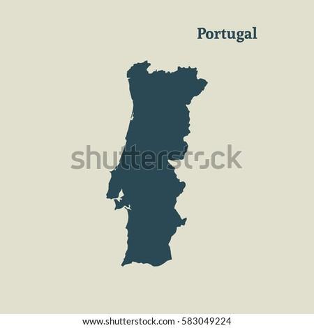 Mapa Portugal Stock Images RoyaltyFree Images Vectors - Portugal mapa