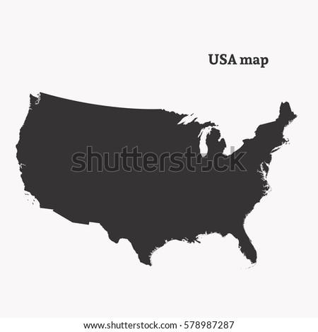 United States Outline Stock Images RoyaltyFree Images Vectors - Outline us map
