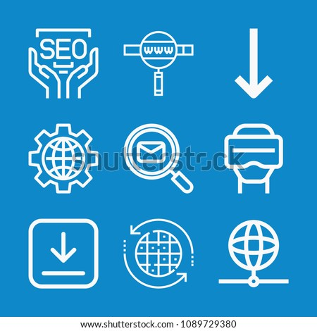 Outline multimedia icon set such world stock vector hd royalty free outline multimedia icon set such as world map earth earth grid download gumiabroncs Choice Image