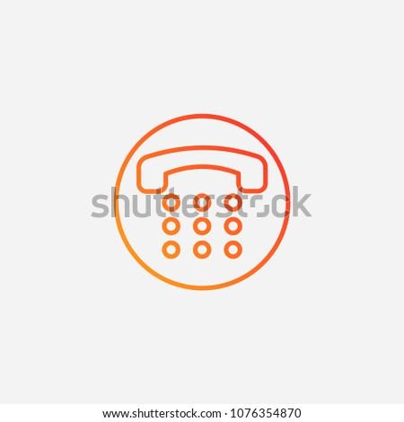 Outline Number Pad Icongradient Illustration Vectorcall Stock Vector