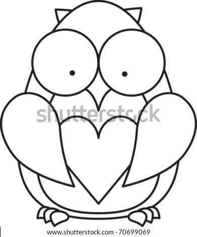 cute little owl cartoon line art coloring hot girls