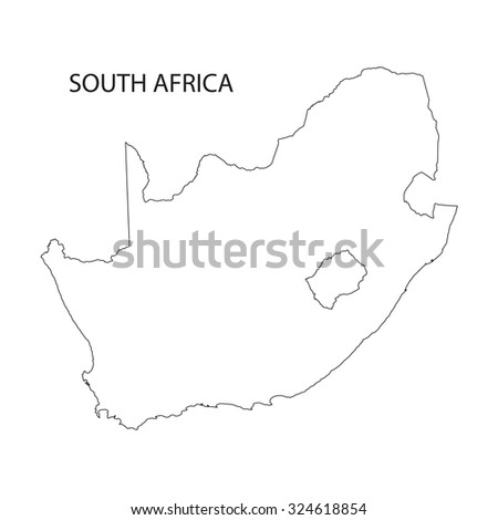 outline of South Africa map
