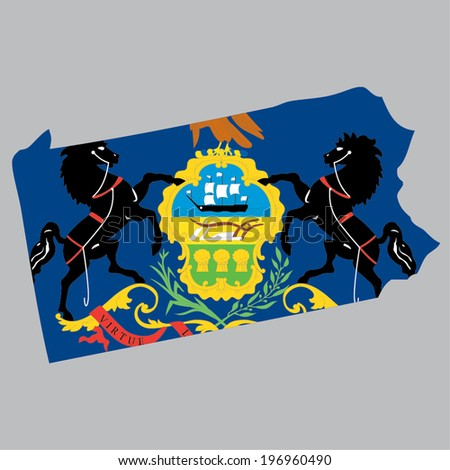 Outline of the State of Pennsylvania - stock vector