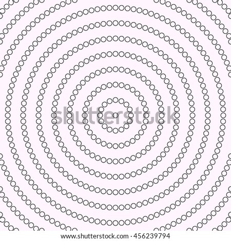 Outline repeated stylized  circles background. Creative wallpaper. Can be used for coloring books and pages, textile print, page fill. Vector illustration - stock vector
