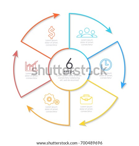 Outline Round Infographic Element Circle Template Stock Photo (Photo ...