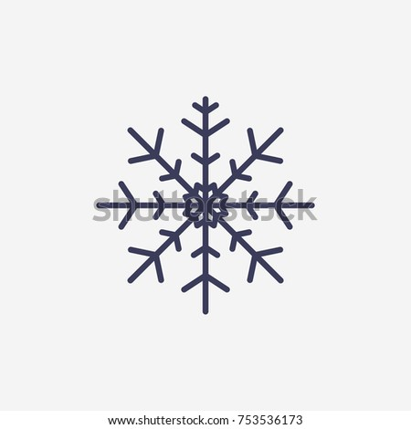 Outline snowflake icon illustration vector symbol