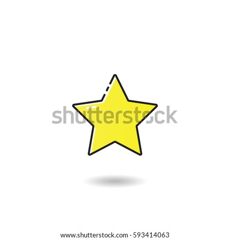 Outline star icon stock vector 593414063 shutterstock outline star icon sciox Images