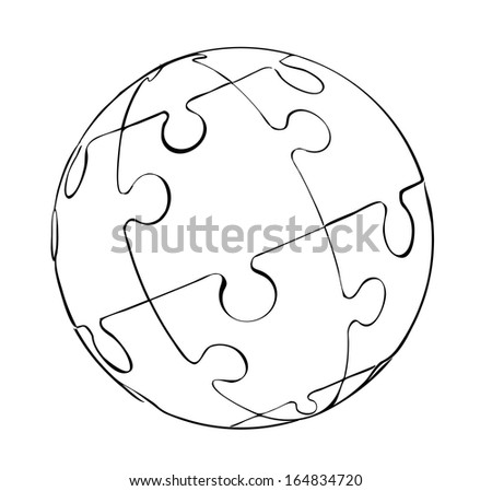 outline the scope of the puzzle - stock vector