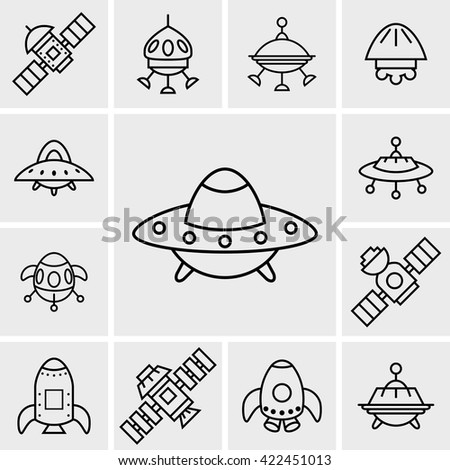 Outline UFO Icons