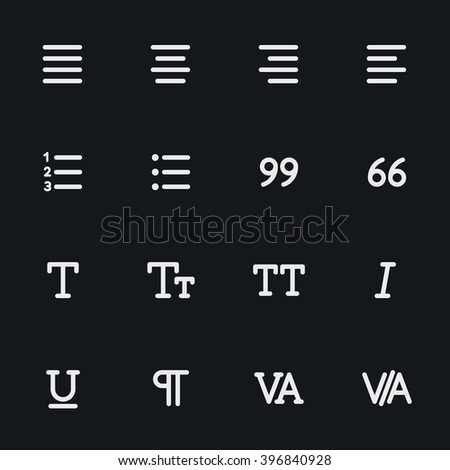 Outline vector icons for web and mobile. Text editor Icons, 4 pixel stroke & 48x48 resolution - stock vector