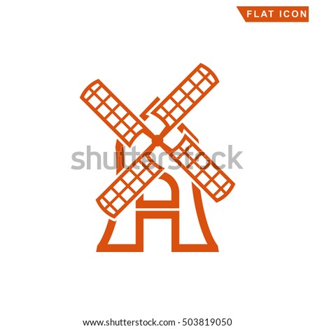 outline windmill icon
