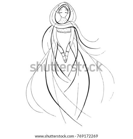 Outline Wedding Dress