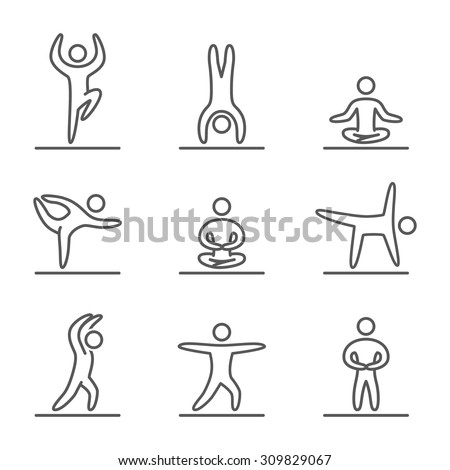 yoga icon stock images royaltyfree images  vectors