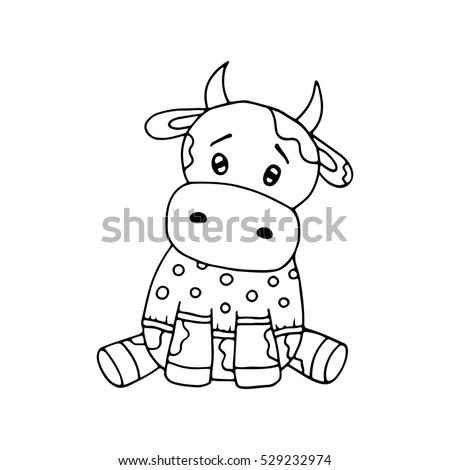 funny cow coloring pages - photo#27