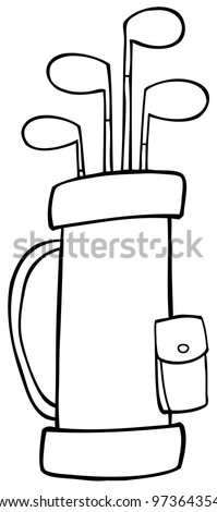 Outlined Golf Bag. Jpeg version also available in gallery. - stock vector