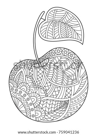 Outlined Zentangle Antistress Coloring