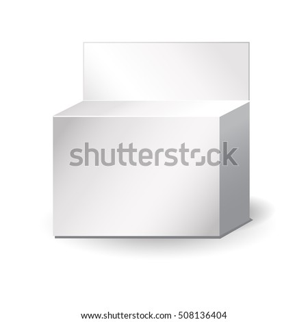 Outside square package. packing box. 3d illustration.