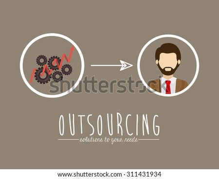 Outsourcing digital design, vector illustration eps 10 - stock vector