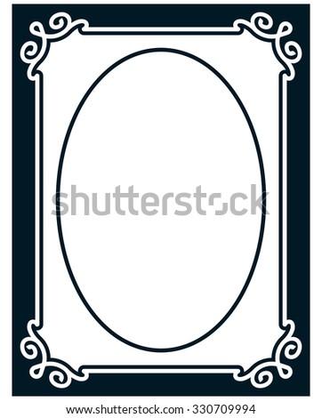 Vertical Oval Frame Clipart Rectangular Decorative...