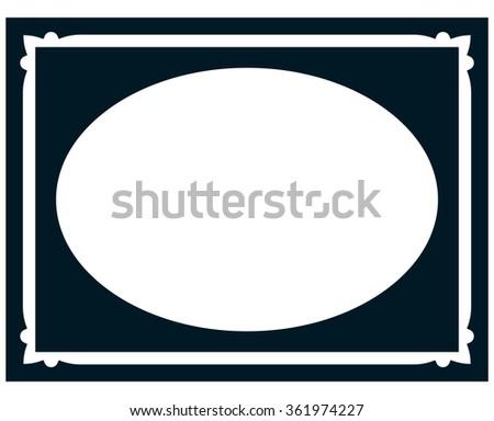 Vertical Oval Frame Clipart Oval Border Stock Imag...