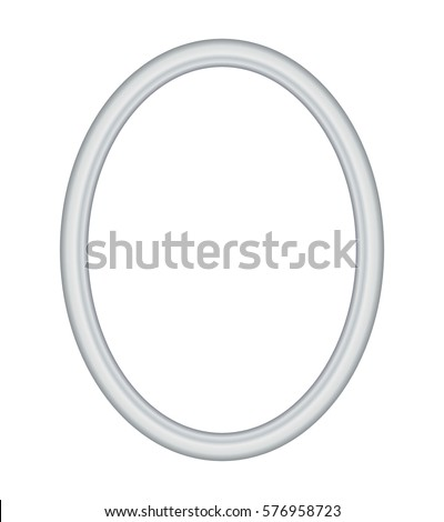 Oval Grey Frame Metal Silver On Stock Vector (Royalty Free ...