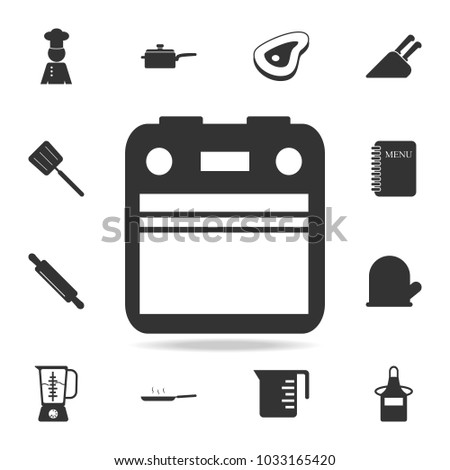 Oven Icon Set Chef Kitchen Element Stock Vector 1033165420