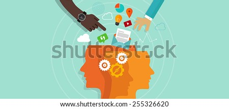 over information too much information - stock vector