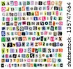 Over 200 vector cut newspaper and magazine letters, numbers, & symbols. Mixed uppercase and lowercase-multiple options for each one. Perfect design elements for a ransom note, creative typography, etc - stock vector