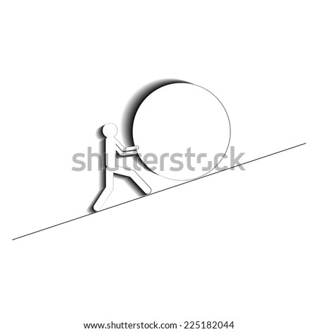 overcome obstacles - stock vector