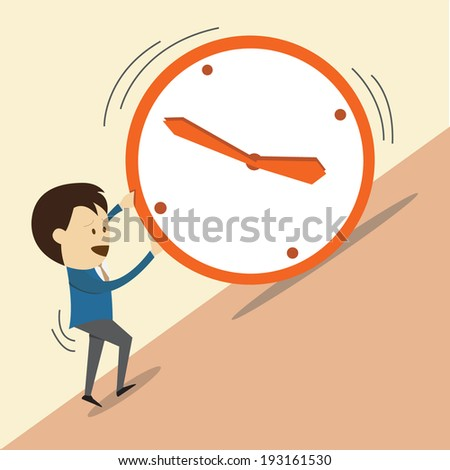 overcoming time - stock vector
