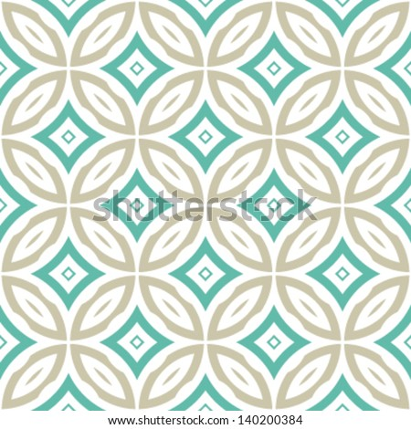 Overlap Circles Seamless Geometric Background Pattern - stock vector