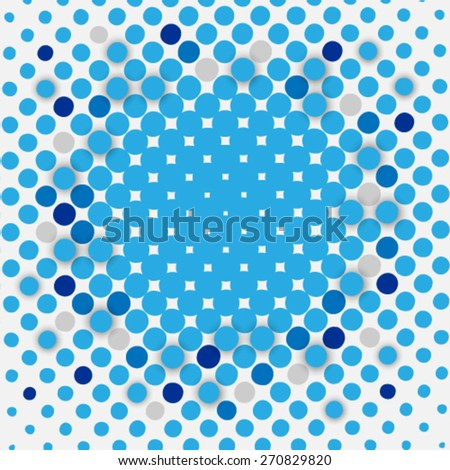 Overlapping Blue Circles on Clean Background - stock vector