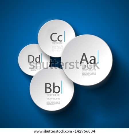Overlapping Circles - stock vector