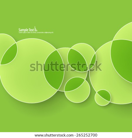 Overlapping Circles Design Background - stock vector