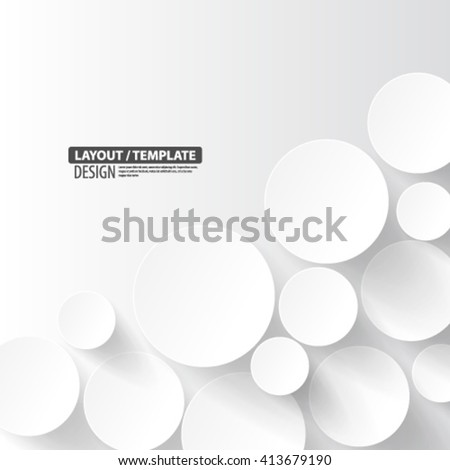 Overlapping Circles Layout/Design Cover Background - stock vector