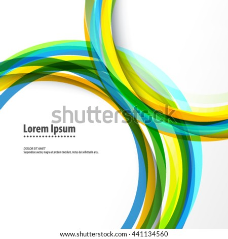 Overlapping Colorful Circles Layout/Design Cover Background - stock vector