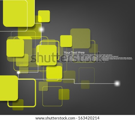 Overlapping Design Background - stock vector