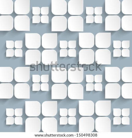 Overlapping Elements Background - stock vector