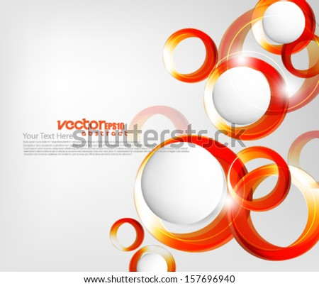 Overlapping Elements Circles Background - stock vector