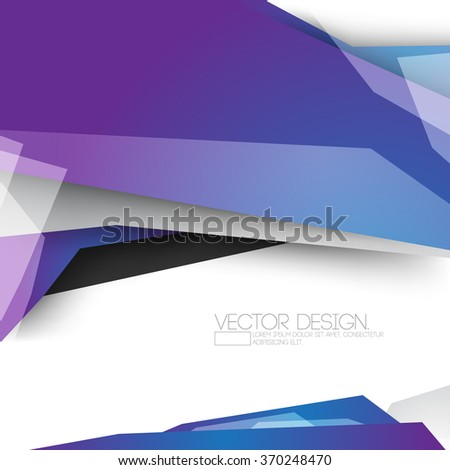 overlapping geometric shaped polygons material corporate business background design - stock vector