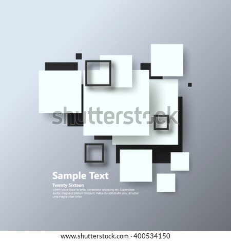 Overlapping Geometric Squares Background